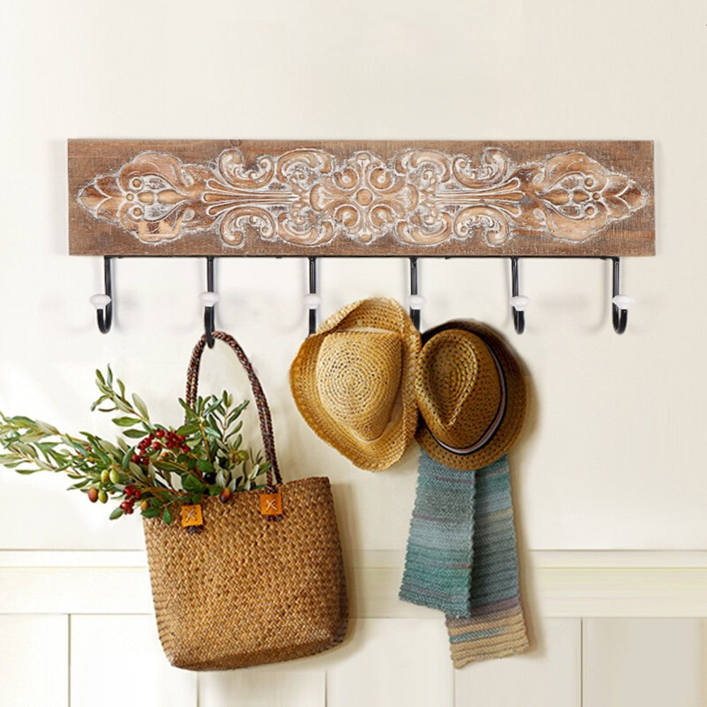 Wall solid wood decoration hook / iron wall hangers / coat hook / creative European metal hook hook