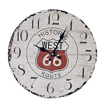 SKQC Reloj de Pared , Relojes de Pared Vintage para Sala de Estar Dormitorio Cocina Multi