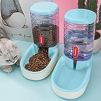 Alimentador automático de agua y alimentos para perros y gatos 3,8 litros, con 1 fuente de agua y 1 alimentador…