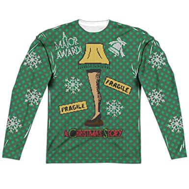 ugly christmas sweater a christmas story all over long sleeve t