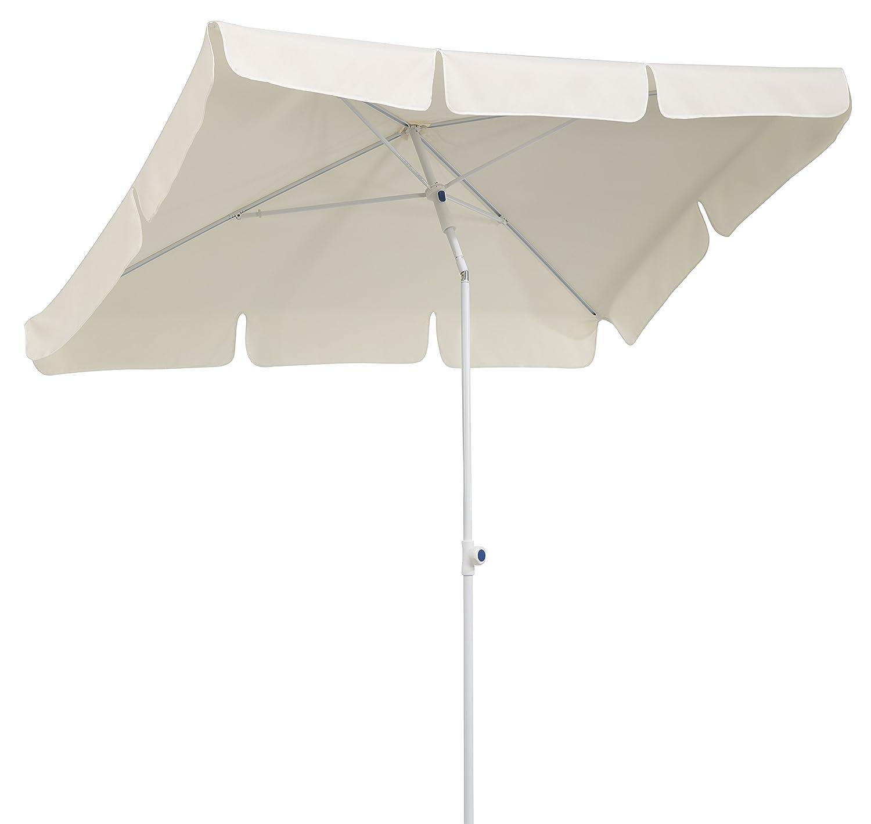 Schneider Sonnenschirm Ibiza natur 180x120 cm rechteckig Gestell Stahl Bespannung Polyester 2 6 kg