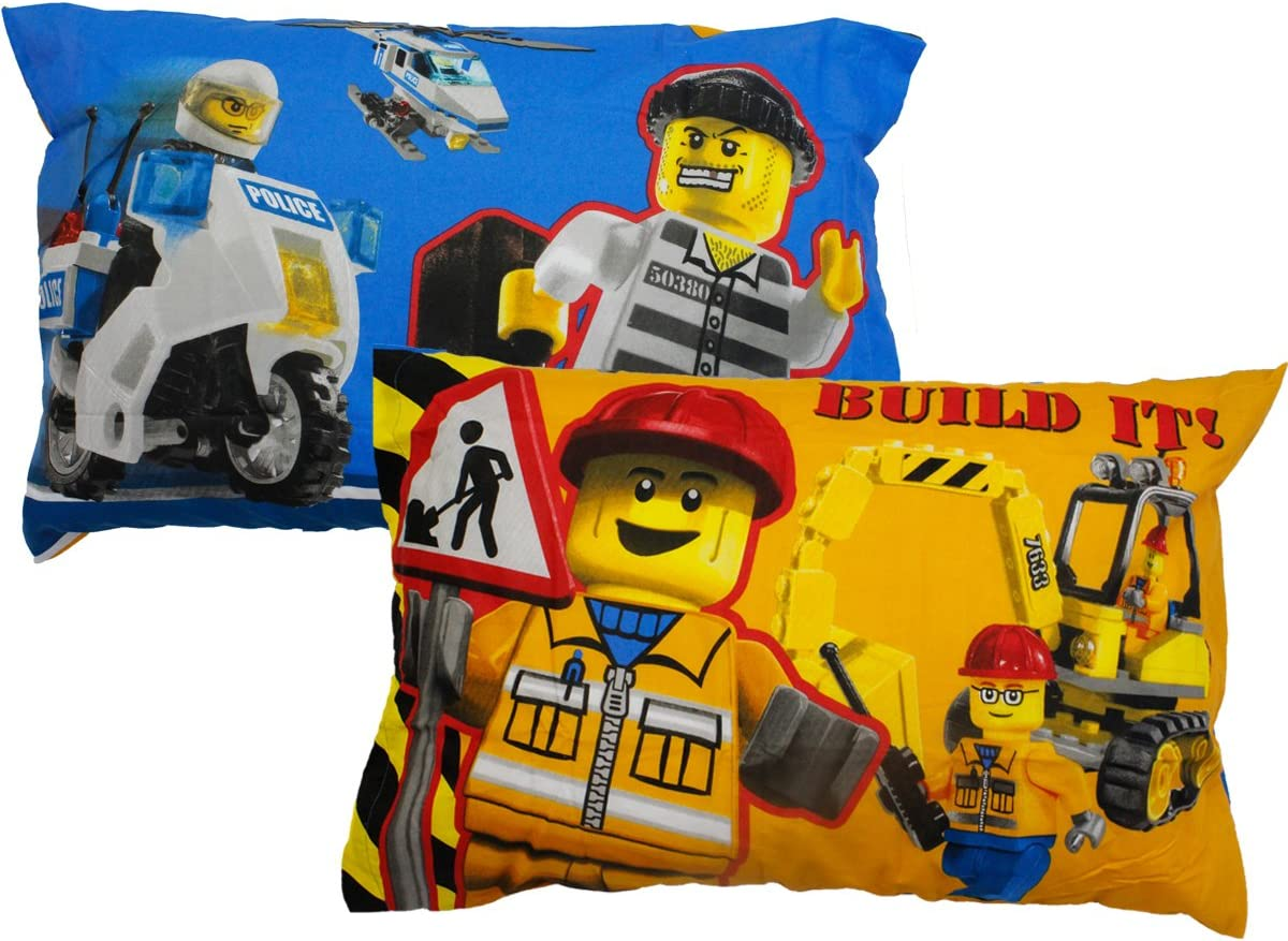 20 X 30 Inch Lego Pillowcase Lets Build Together Reversible Pillowcase for Kids 1 Piece Pillow Case Only