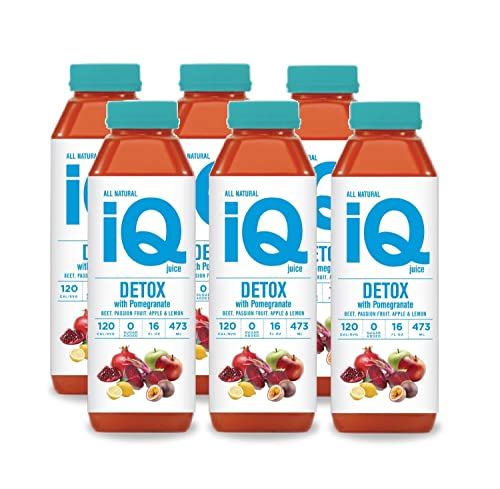 iQ Juice Detox with lemon, beet, and Pomegranate