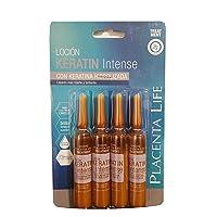 PLACENTA LIFE INTENSE HAIR TREATMENT X 4 AMPOULES 13ml/0.44 fl.oz each (Keratine Intense)