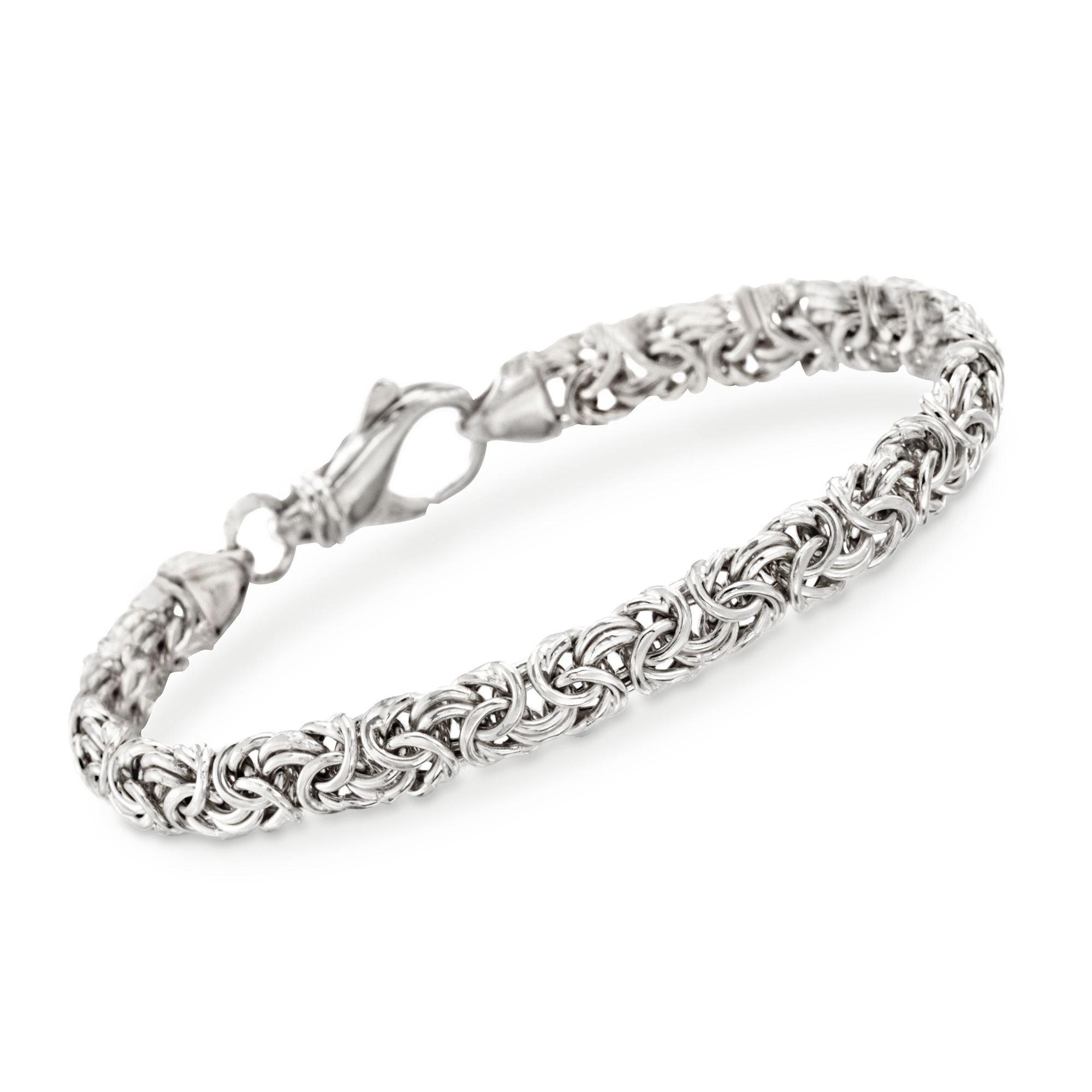 Ross-Simons Sterling Silver Small Byzantine Bracelet