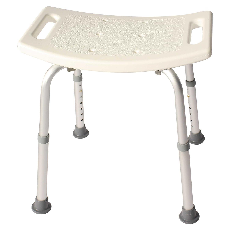 Duschhocker Duschhilfe Duschsitz Höhenverstellbar Rechteckig aus