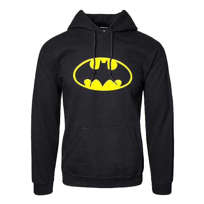 Felpa it nero Logo Amazon Batman Abbigliamento Dc Comics Small U6Urq
