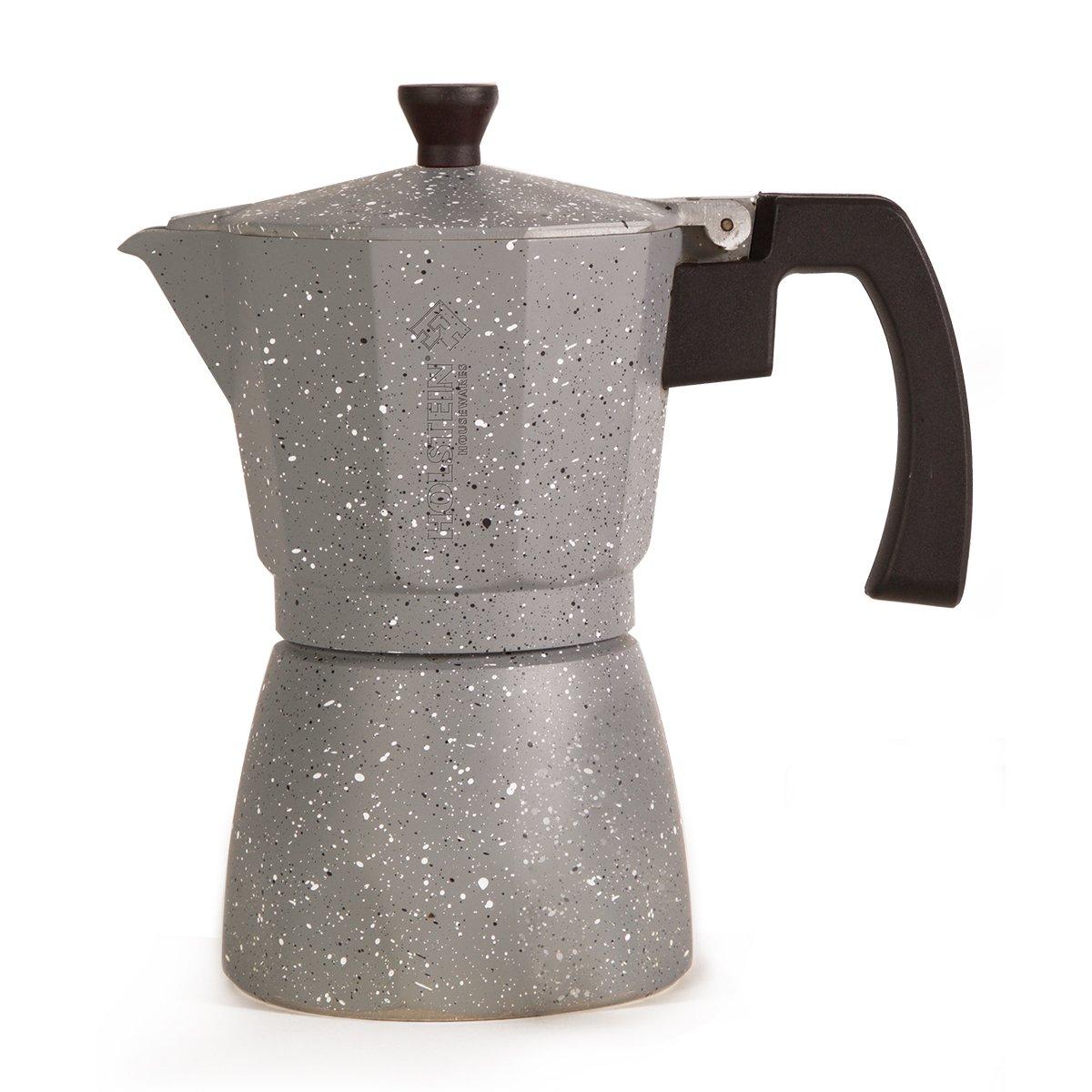 Holstein Housewares H-08080 6-Cup Aluminum Espresso Maker - Marbled