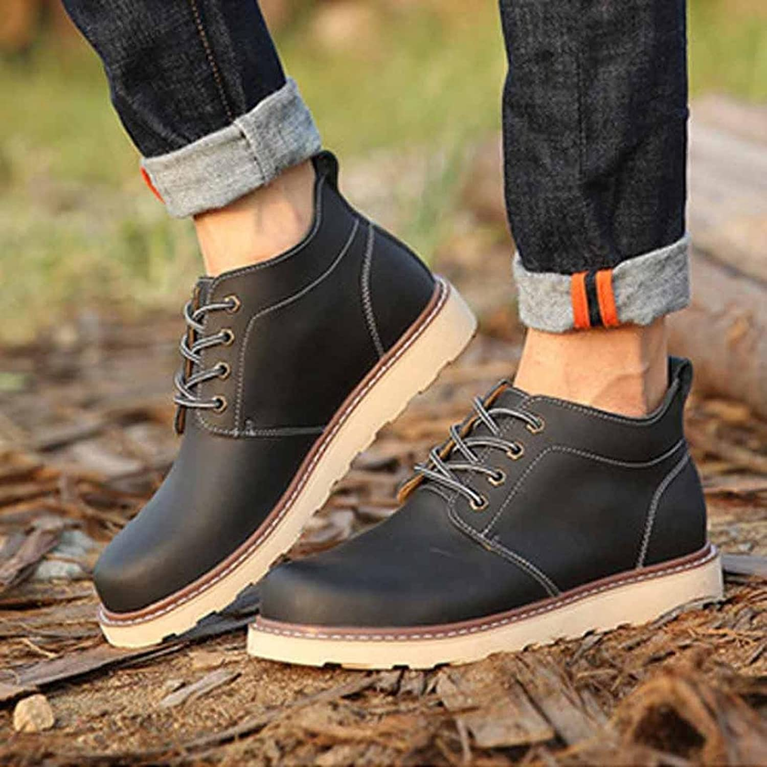 Men's Handmade Leather Outdoor Casual Shoes Classic Retro Anti-slipp Dance Party Martin Shoes