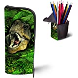 AoMagic 3D Animal Print Pencil/Pen Cases Vertical Cosmetic Makeup Brushes Bags Coin Pouch Purses Dinosaur
