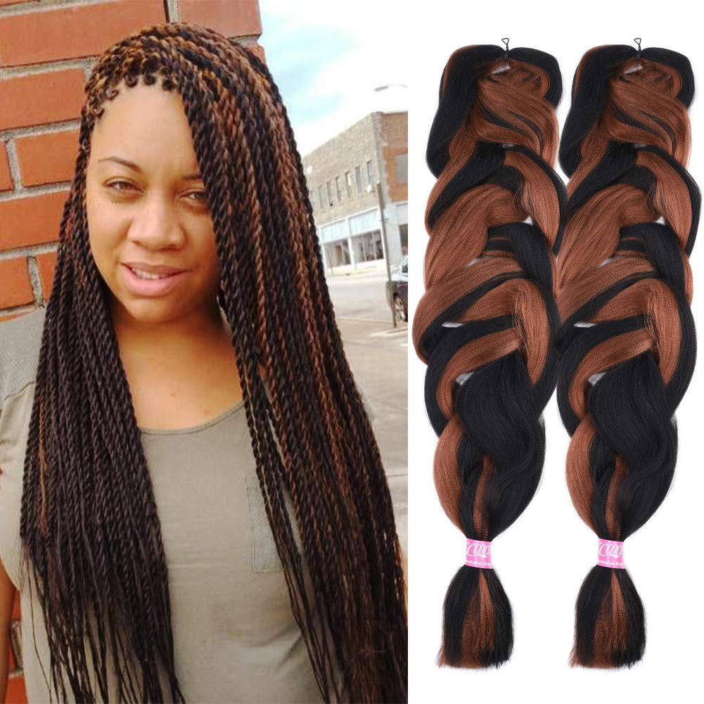 2 Pack Jumbo Braiding Hair Color Kanekalon