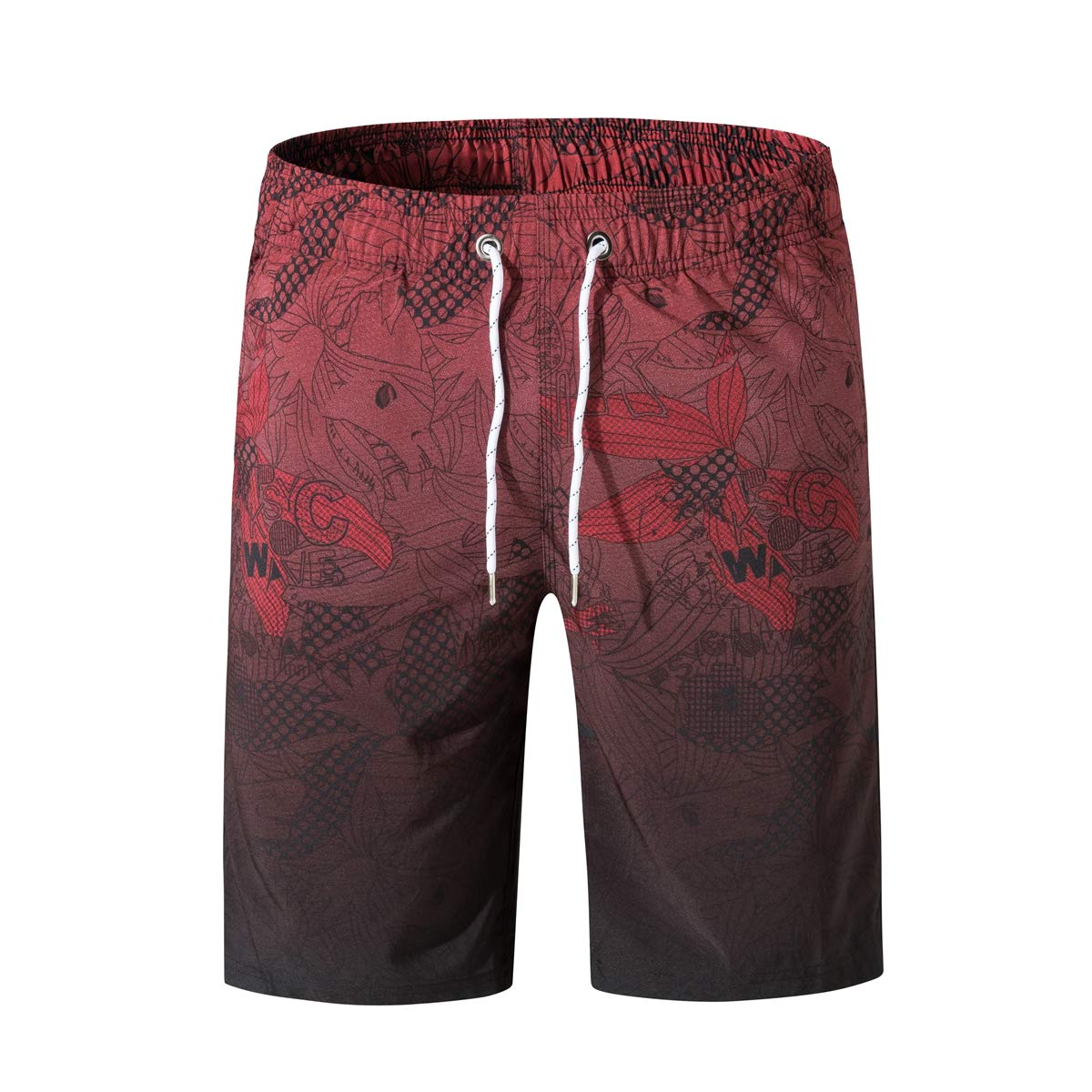 Gymleader Mens Swim Trunks Quick Dry Shorts with Mesh Lining Athletic Gym Running Shorts for Men Hawaiian Boardshorts