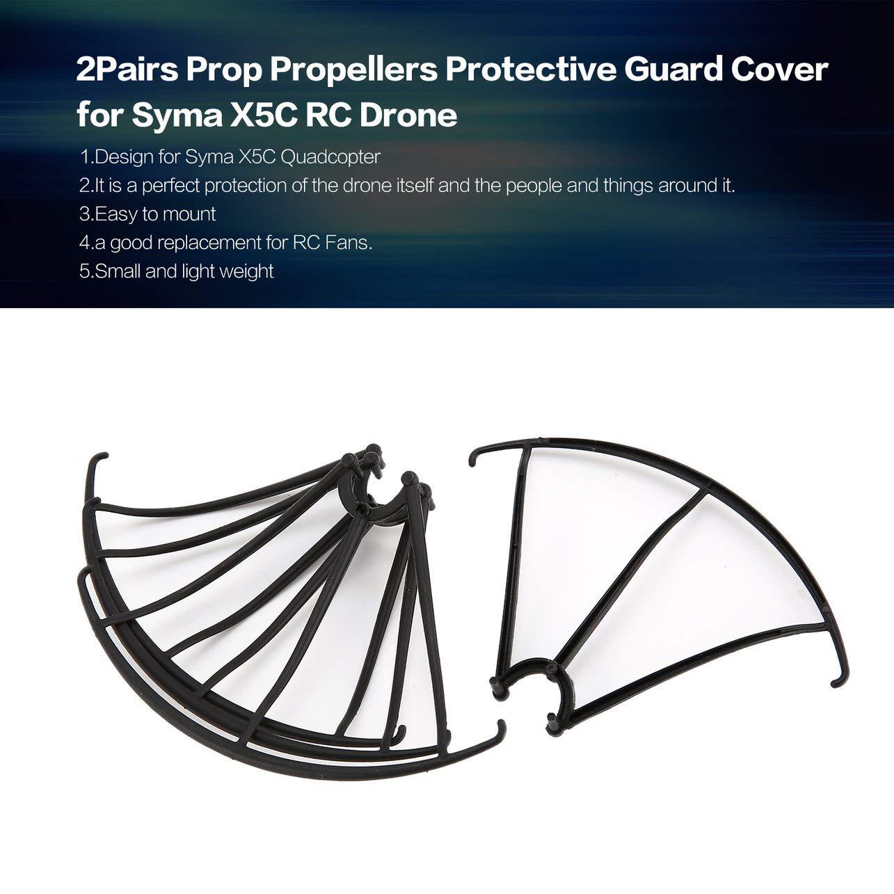 2 pares de prop hélices cubierta protectora protectora para Syma ...
