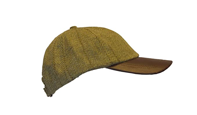 9f8dba74e0f Image Unavailable. Image not available for. Color  Walker and Hawkes Men s  Derby Tweed Baseball Cap Hunting Shooting Hat Leather Peak One ...