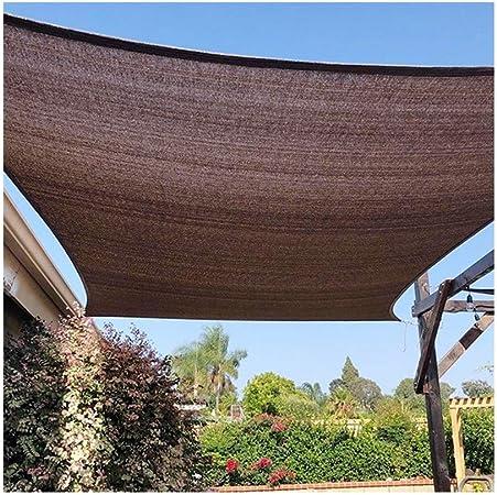 ALGFree Toldo Vela de Sombra Parasol Resistente Transpirable Sol Crema Protección UV Exteriores Patio Jardín Outdoor Canopy Cover,11 Tallas (Color : Brown, Size : 1×1m): Amazon.es: Hogar