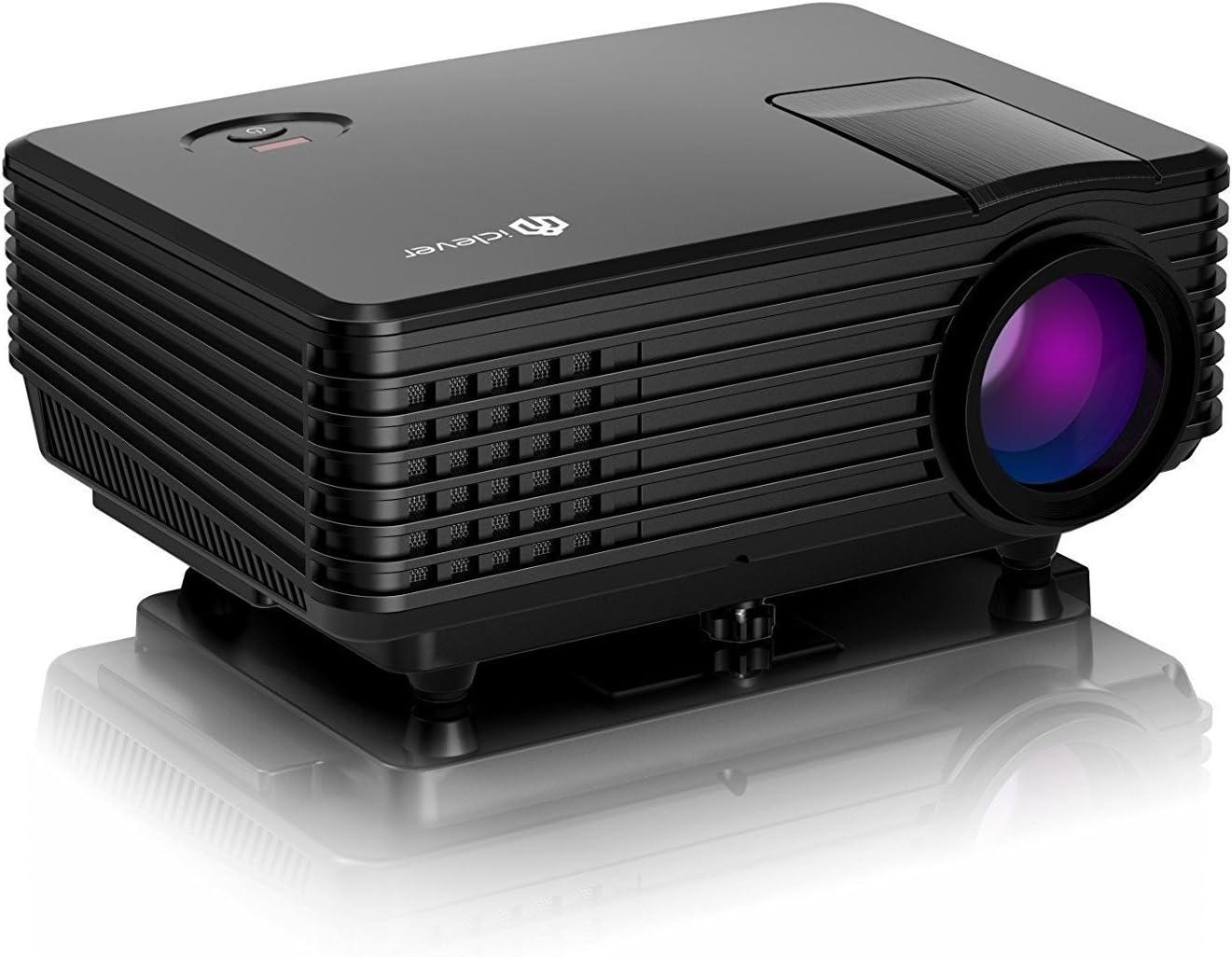 iClever IC-P01 Mini LED Video Proyector Portátil Multimedia Cine ...