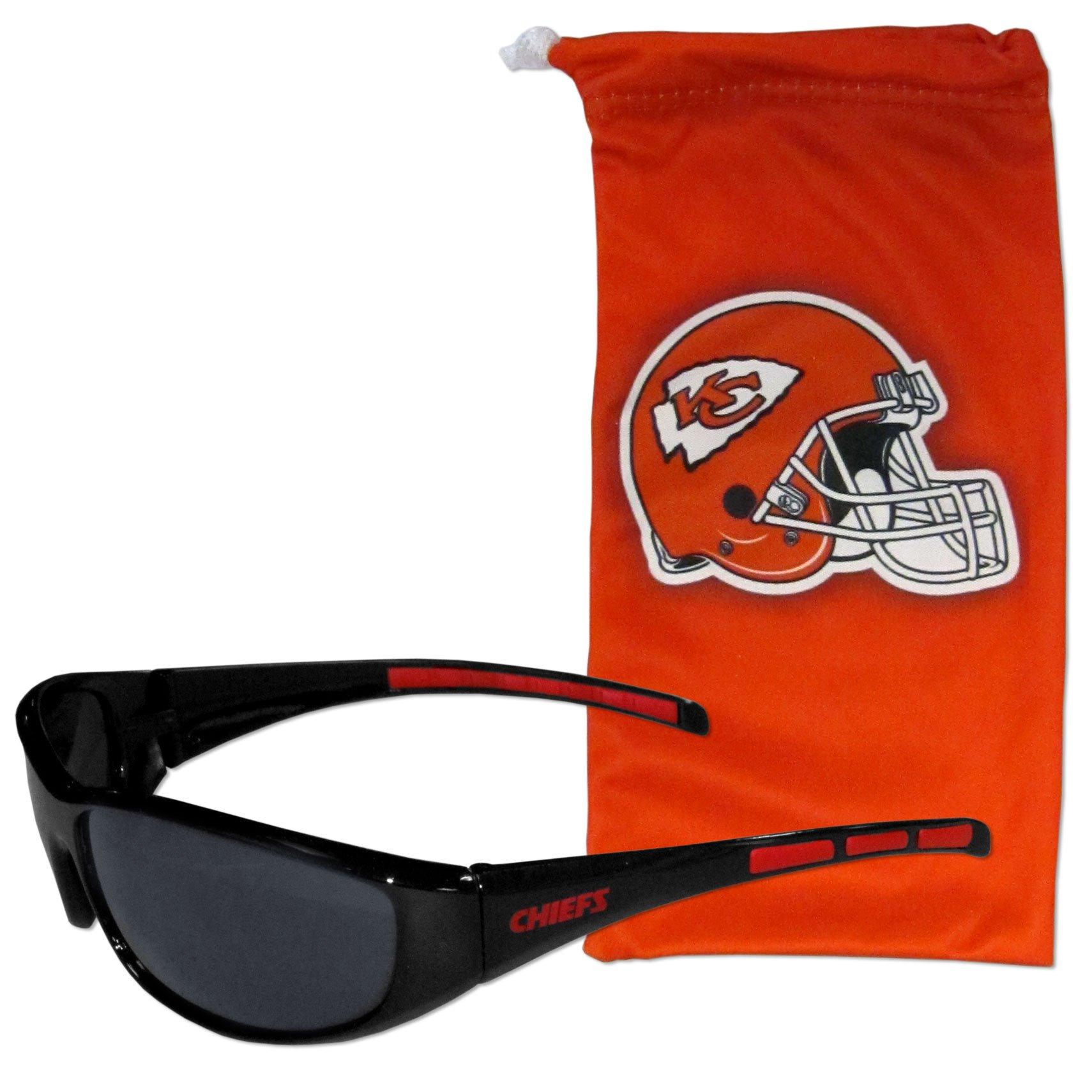 NFL Kansas City Chiefs Adult Sunglass and Bag Set, Red