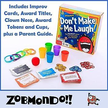 Amazon.com: Zobmondo!! No me hagas risa. Juego de fiesta de ...