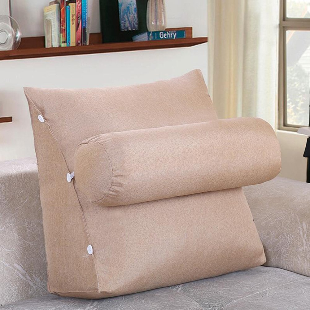 Throw Pillows CJC Pillow Backrest Bedside Support Wedge Cushion Gift Hotel Reading Car Travel Plane (Color : T13, Size : 605024)