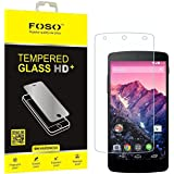 Foso 9H Hardness Toughened Tempered Glass Screen Guard Protector FOSO_TG25_NEXUS 5 For LG Nexus 5 2.5D Curved Edge FOSO(TM)