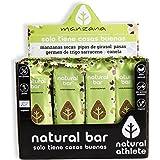 Barritas Energéticas Manzana Natural Athlete, Sin Azúcar Añadido, 100% Natural y Orgánicas, Sin Gluten, Vegana -Pack…