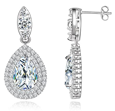 222850d4b Buy Via Mazzini Silver White Gold Plated Brass Swarovski Elements Earrings  for Women Online at Low Prices in India | Amazon Jewellery Store - Amazon.in