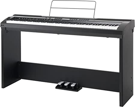 Set completo de stage piano Classic Cantabile SP-150 BK negro (Incl. atril)