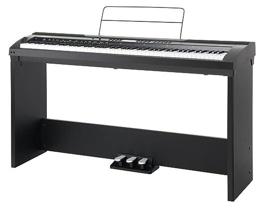 Set completo de stage piano Classic Cantabile SP-150 BK negro (Incl. atril): Amazon.es: Instrumentos musicales