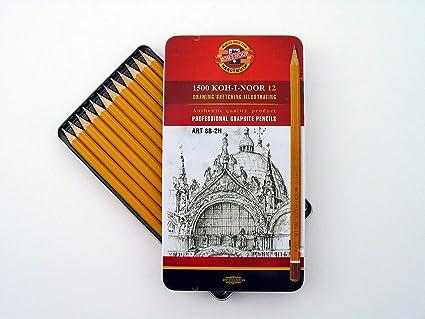 Koh-I-NOOR 1500 professionnel Graphite Crayons Pack De 12 ** Nouveau Gratuit P /& P **
