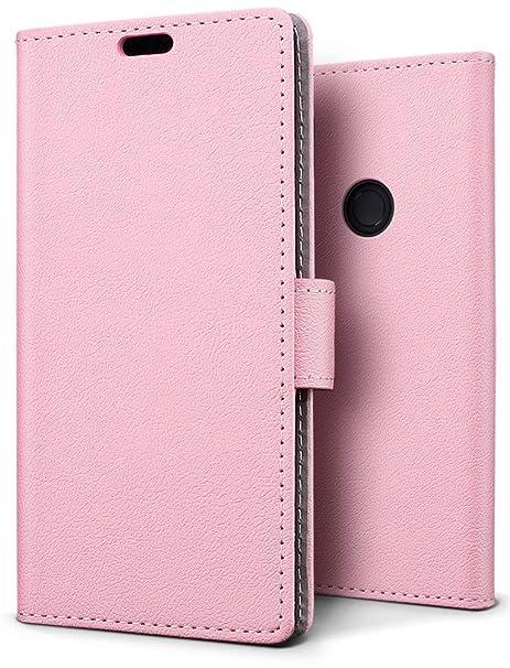 SLEO Funda para Xiaomi Redmi Note 5 Pro/Redmi Note 5 Carcasa Libro de Cuero Ultra Delgado Billetera Cartera [Ranuras de Tarjeta,Soporte ...
