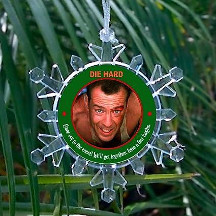 die hard john mcclane blinking holiday christmas snowflake tree ornament