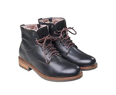 Fellhof  HomeStylist Lammfell-Schnürschuhe Massimo für Herren l Stiefel mit  Schuheinlage l Schwarz l c2d84b8f03