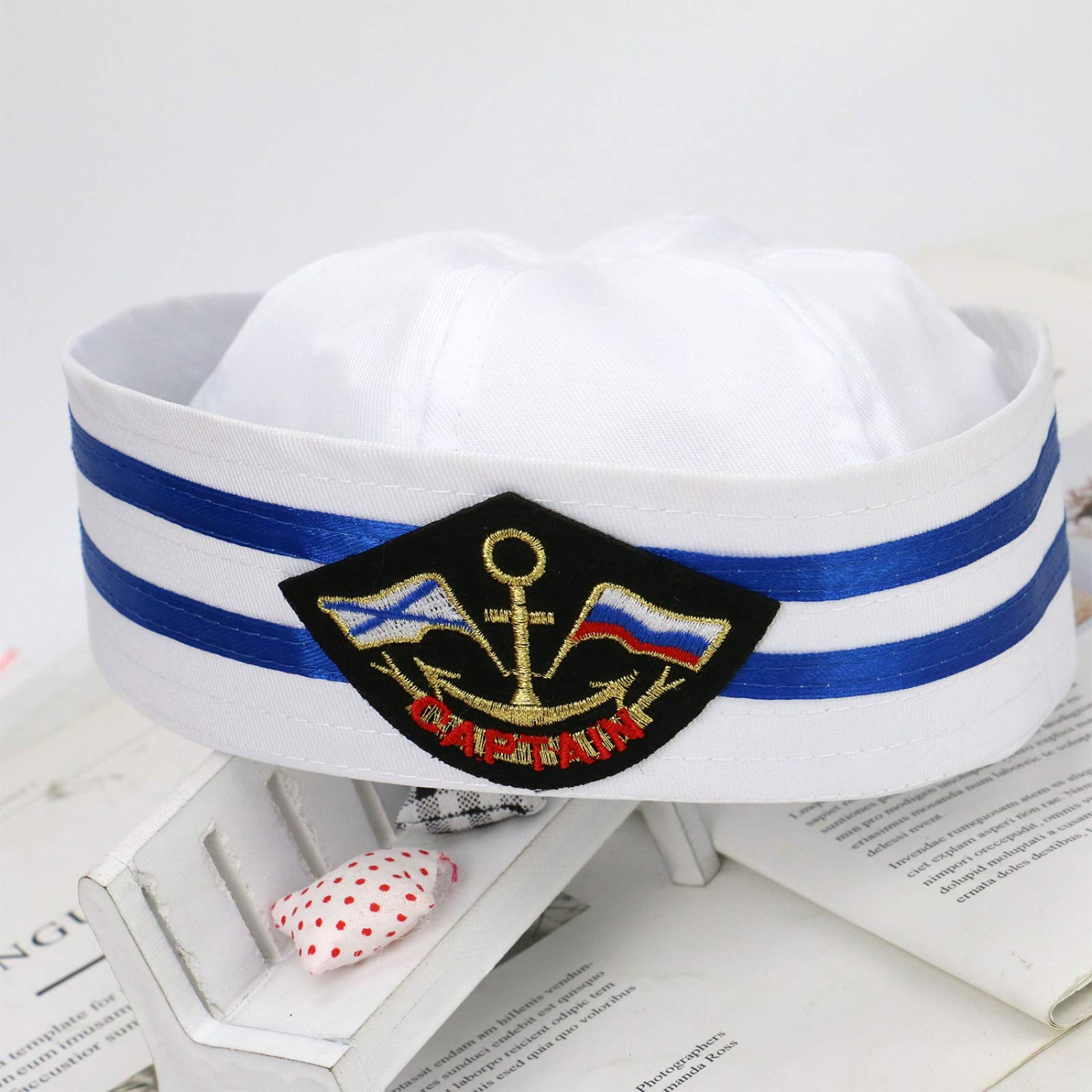 WSSROGY Sailor Captain Hat Skipper Navy Marine Yacht Cap Kids