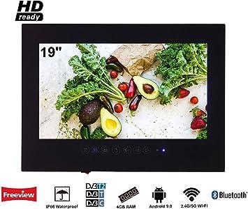 Soulaca innovativtv LED Andriod Smart TV Baño Negro Frontal 19 Pulgadas Resistente al Agua IP66 con Wi-Fi Incorporado: Amazon.es: Electrónica