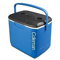 Coleman Erwachsene 30 QT Performance Cooler Tricolor Blue/White/Charcoal Kühlbox, Blau, L