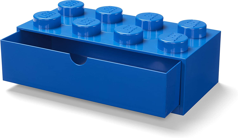 LEGO 40211731 Desk Drawer 8 knobs Stackable Storage Box, Blue