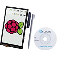 ELEGOO 3.5 Inch TFT LCD 480x320 Screen For Raspberry Pi 3 2 3.5 Inch 480x320 TFT Touch Screen Monitor for Raspberry Pi Model B B+ A+ A Module SPI Interface with Touch Pen SC06
