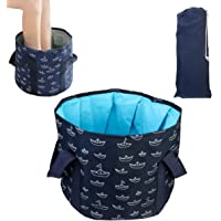 Collapsible Bucket for Soaking Feet, Portable Travel Foot Bath Tub, Multi-use Folding Foot Spa Soak Basin Water…