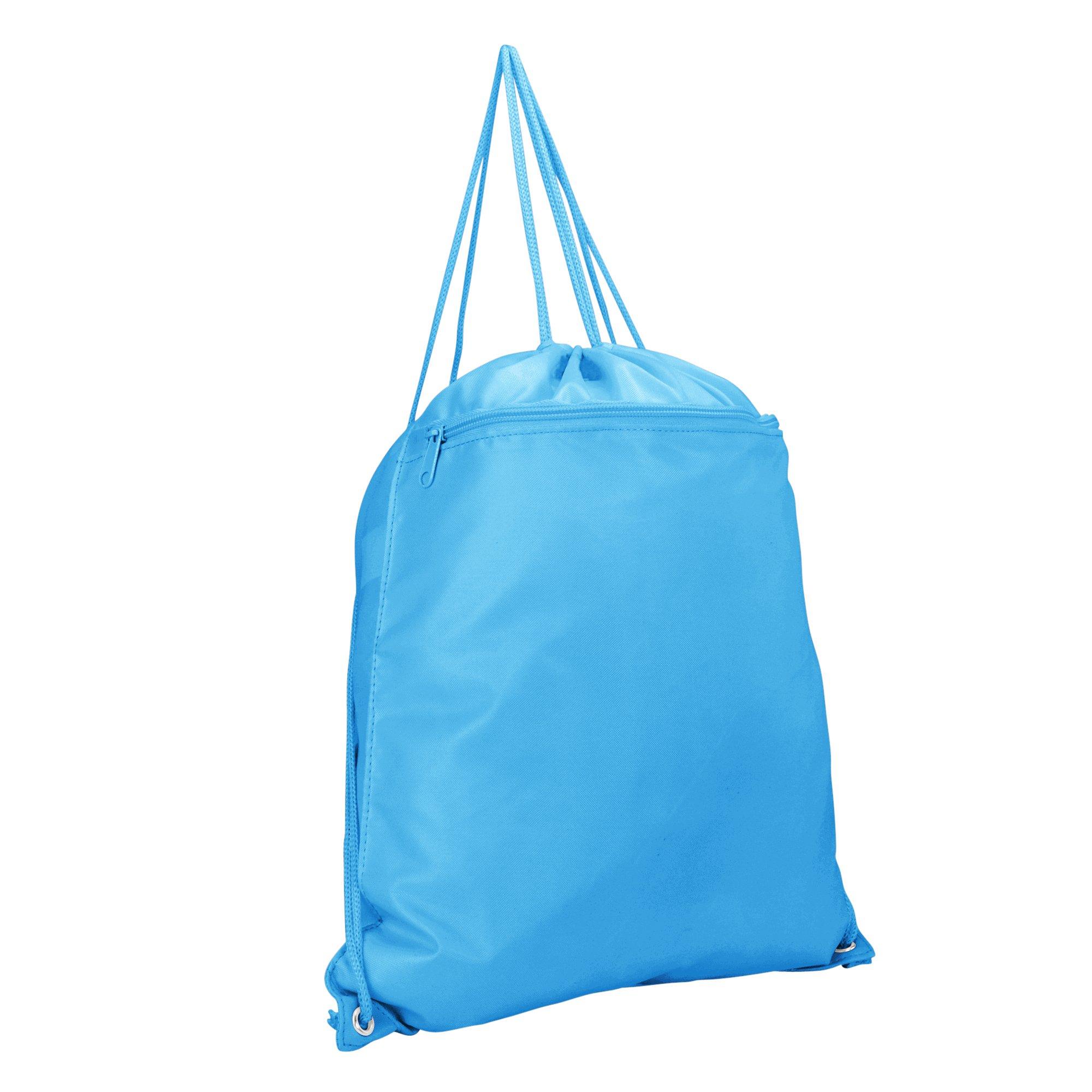 DALIX Drawstring Backpack Sack Bag Light Baby Blue