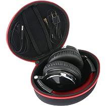 Khanka Duro Viaje Estuche Bolso Funda para Auriculares DJ OneOdio/A70/A71(Caja Solo) (Red Zipper): Amazon.es: Electrónica