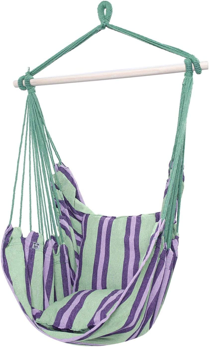 ONCLOUD Hanging Hammock Chair Porch Swing Green