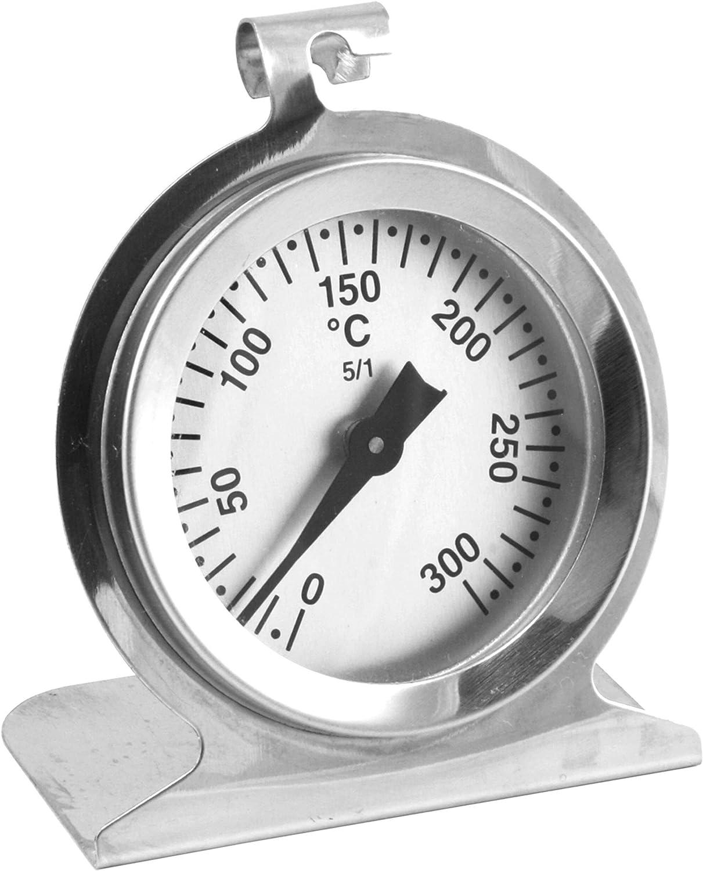 TERMOMETRO INDICATORE PER FORNO IN ACCIAIO INOX DA 0° 300°