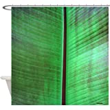 CafePress - Banana Leaf Tropical Shower Curtain - Decorative Fabric Shower Curtain