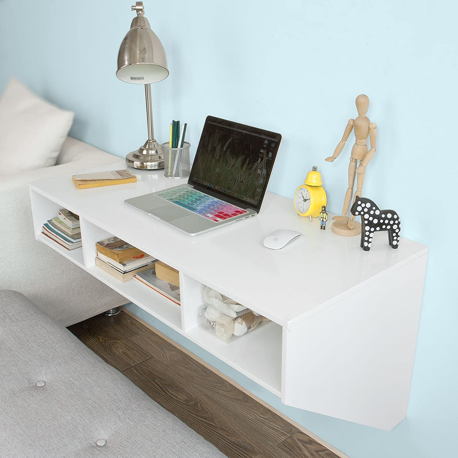Wall Office Desk Amazon.com: Haotian Wall-mounted Table Desk,Home ...