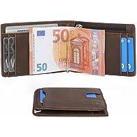 Portafoglio Uomo con Clip Protezione RFID in Pelle PU Portamonete | Portafoglio con Fermasoldi e Portamonete Porta carte di credito | Portafoglio Piccolo Sottile Elegante Compatto