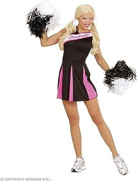 Disfraz animadora rosa y negro mujer M: Amazon.es: Juguetes y juegos