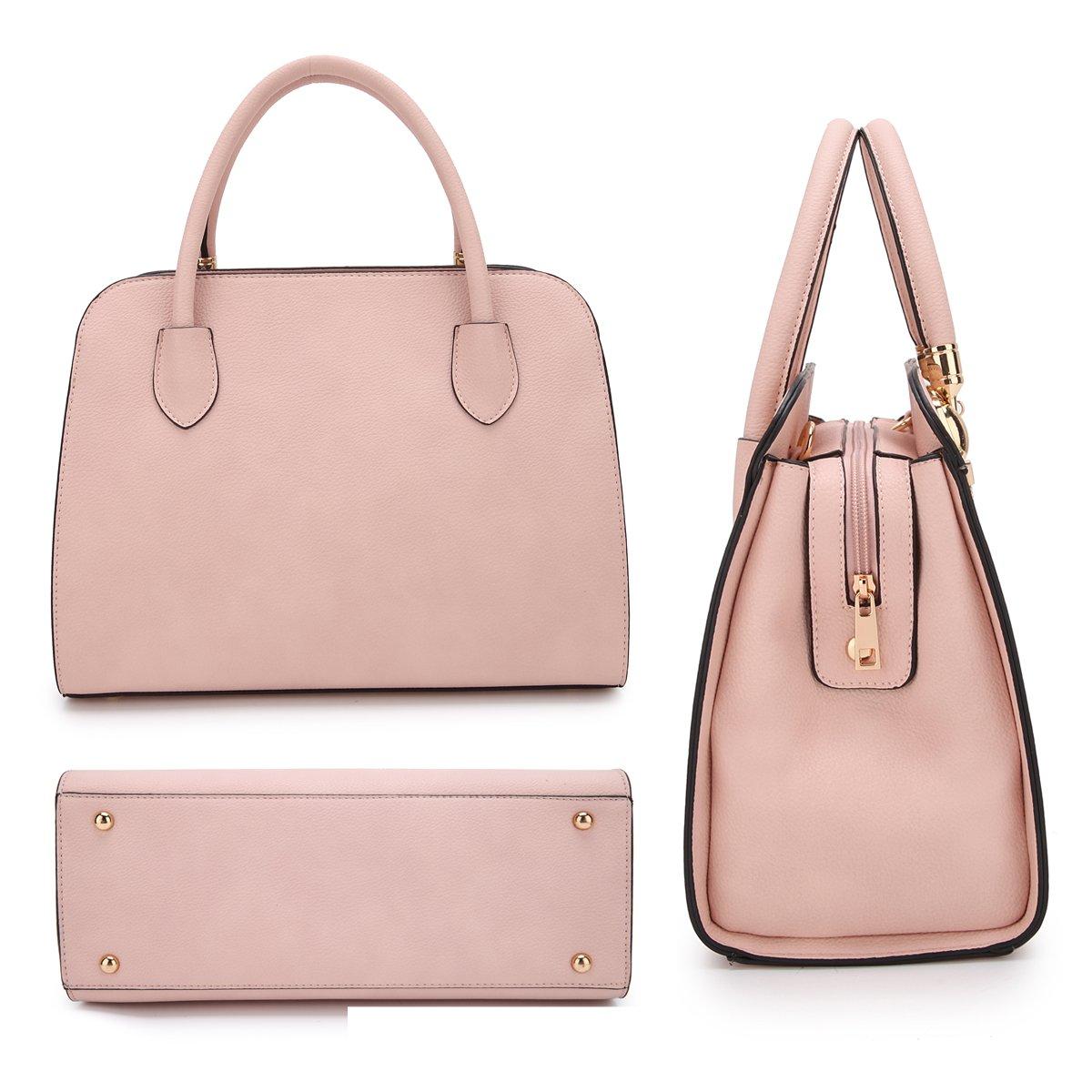 Women Structured Satchel Bags Vegan Leather Handbag Top Handle Purse Fashion Shoulder Bag with Fringed Tassel by Dasein (Image #3)