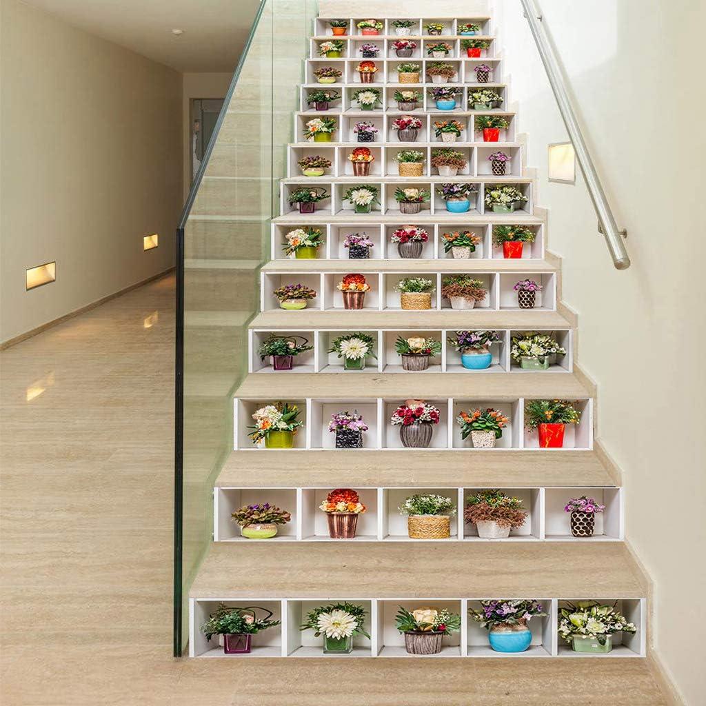 Lunji 3D Stickers Escalier Auto-adh/ésif 15# Carrelage Autocollant /Étanche Amovible D/écoration de la Maison