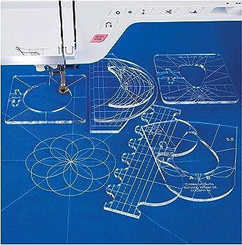 YICBOR RL-06 - Juego de muestras de regla para máquina de coser ...