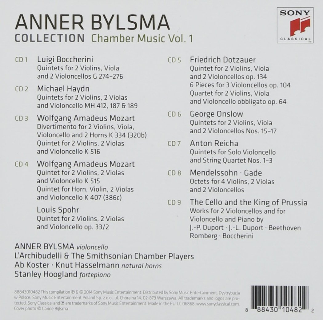 Anner Bylsma Plays Chamber Music Vol . 1 by CD